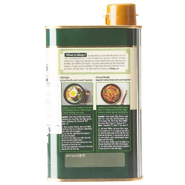 CJ Bibigo Cold-Pressed 100% Sesame Oil 500mL (Can)