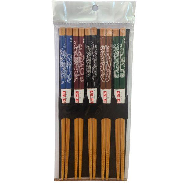 Japanese Style Bamboo Chopsticks 5pair Set