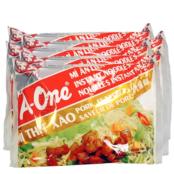 A-One Instant Noodle Soup -Pork (Pack of 5)