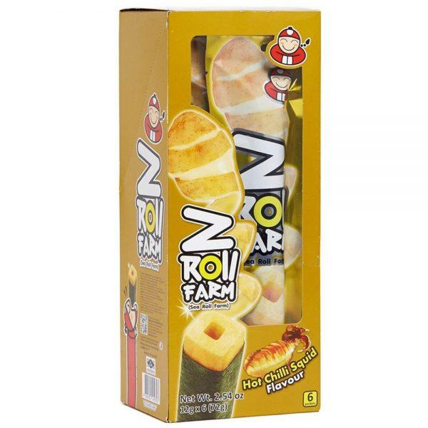 Taokaenoi Potato Seaweed Roll (Chilli Squid Flavour) 6 Roll 72g