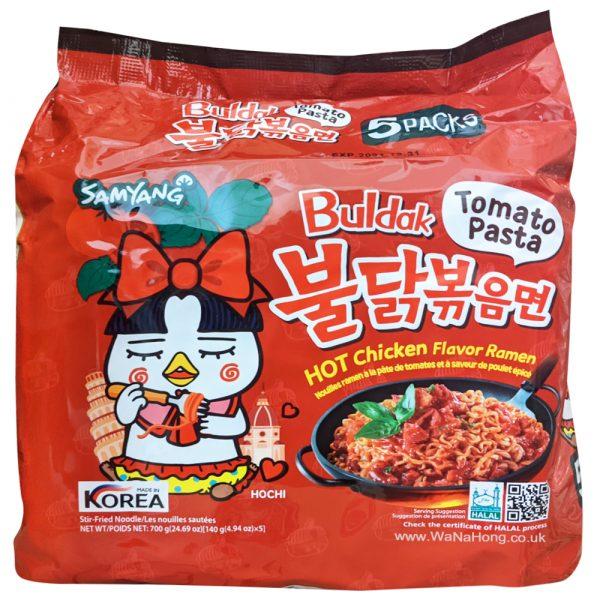 Samyang Hot Chicken Noodles (Tomato Pasta) 5 Packs