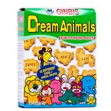Ginbis Dream Animal Biscuits – Seaweed Flavour 37G