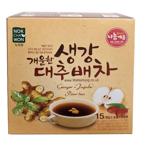 Nokchawon Ginger Jujube Pear Tea (15 Sachets)