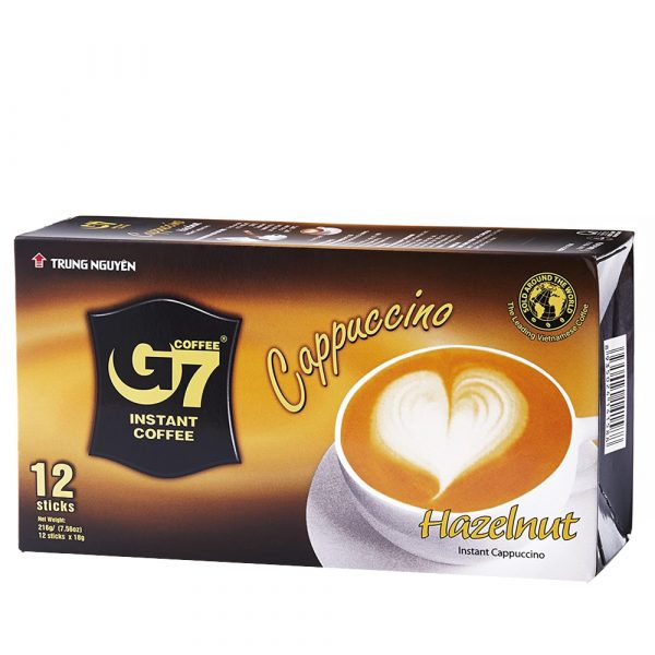 Vietnam G7 instant coffee Cappuccino Hazelnut (12 Sachets)