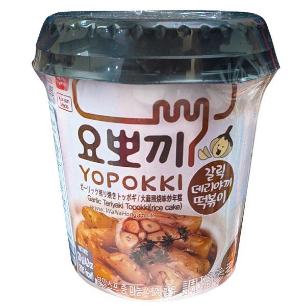 Yopokki Instant Rice Cake Cup 120g (Garlic Teriyaki)