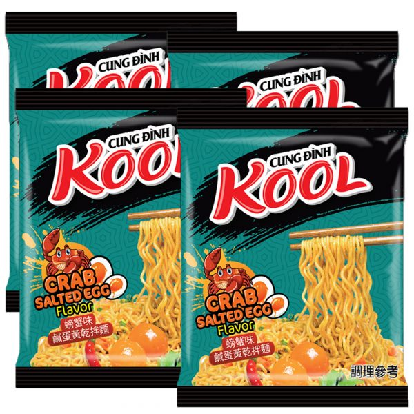 Cung Dinh Salted Egg Crab Noodles (Pack of 4)