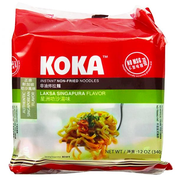 Koka Non-Fried Noodle – Singapore Laksa Flavor (Pack of 5)