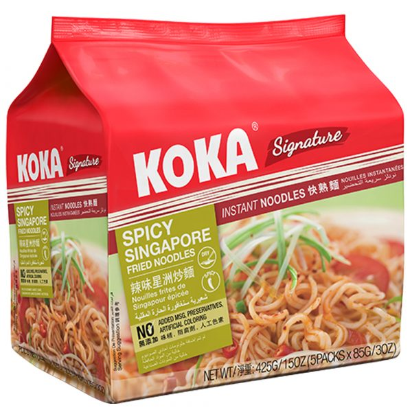 Koka Instant Noodle – Spicy Singapore Flavor (Pack of 5)