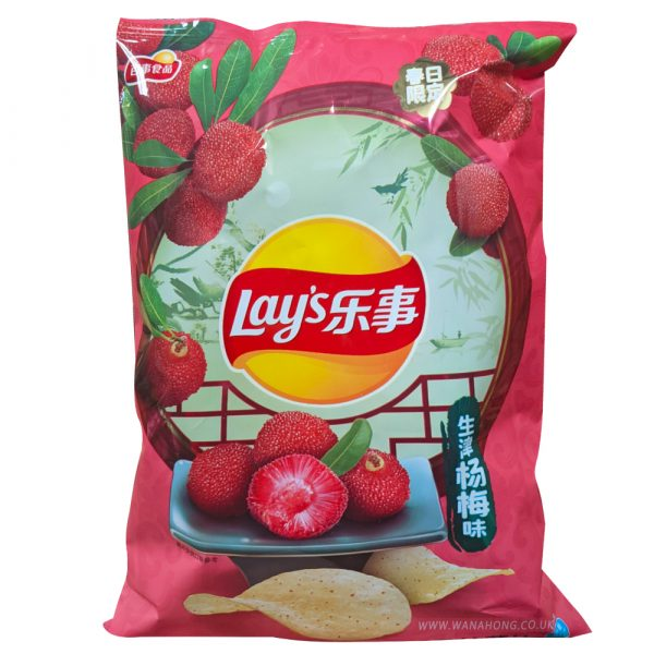Lays Potato Chips (Red Bayberry Flavor) 70G