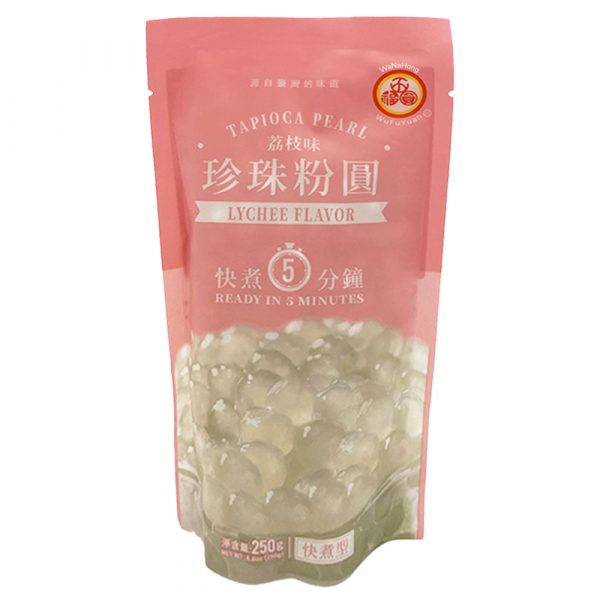 WuFuYuan Tapioca Pearl (Lychee Flavour) 250g